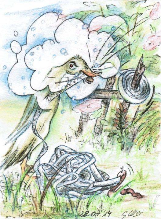 Der Bitekönig - Zeichnung von Gabriele Meischner