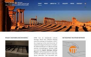 Website von Syrian Heritage Archive Project